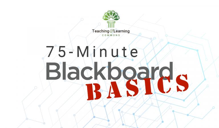 75-Minute Blackboard Basics graphic
