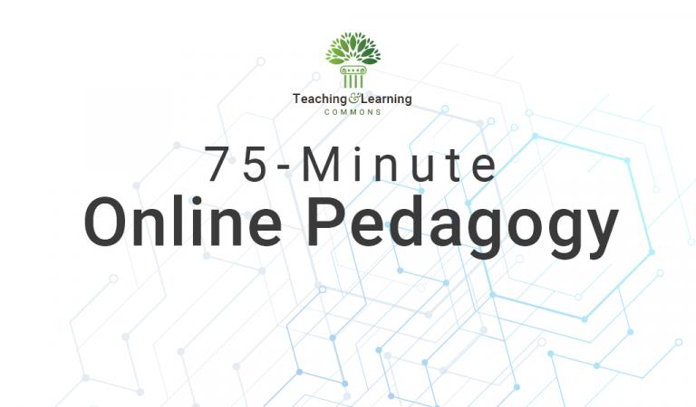75-Minute Online Pedagogy graphic