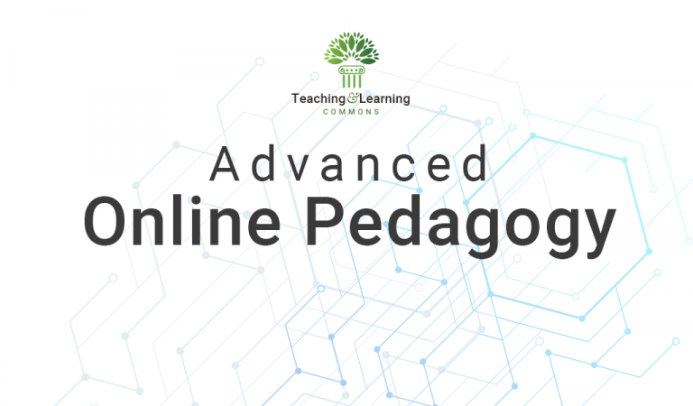 Advanced Online Pedagogy graphic