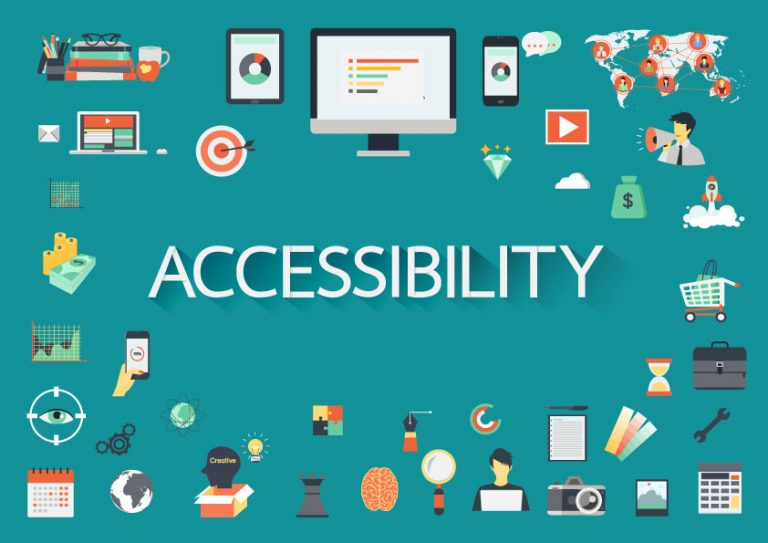 Image depicting various aspects on accessibility in technology